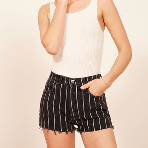 Reformation Dixie Striped Shorts
